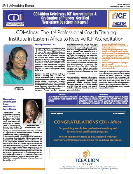 Graduation 2015 & CDI-Africa Accreditation Ceremony Page 1